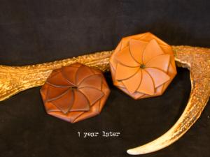コインケース レザー 経年変化 エイジング 折り紙 ブラウン