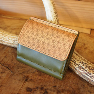 compact wallet / 麻柄
