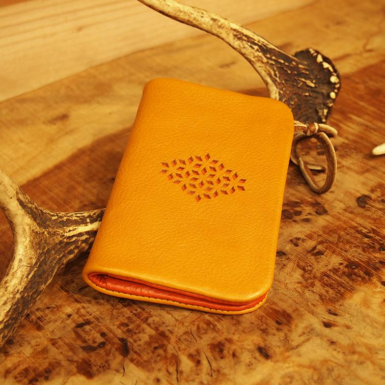 財布 ミドル ウォレット レザー 革 個性 オリジナル ハンドメイド