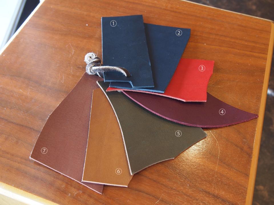 レザー 革 色 カラー leather color
